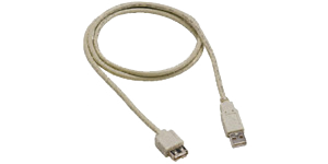 Black 5m USB 2.0 Cable Extension Cable